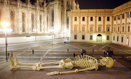 scheletro Gino De Dominicis