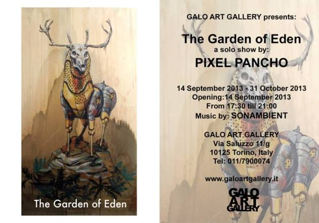 The Garden of Eden a solo show by PIXEL PANCHO